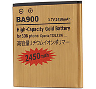 BA900-GD 2450mah Cell Phone Battery for Sony Xperia TX LT29i ST26i