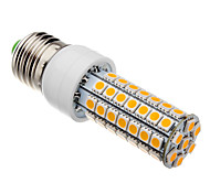 E26/E27 7W 63 SMD 5050 620-640 LM Warm White T LED Corn Lights AC 220-240 V