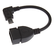 Black Micro USB Host OTG Adapter Cable for Samsung Galaxy S3 I9300