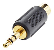3.5mm Stereo Male to RCA Composite Female Adapter Black for Musical