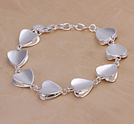 20cm stilvolle Frauen Silber-Kupfer-Armbänder