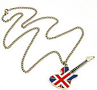 Нефть Капельное Guitar флага длинное ожерелье