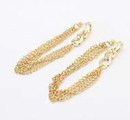 Alloy Tassels Drop Earrings