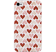 Loving Peach Heart Back Case for iPhone 4/4S