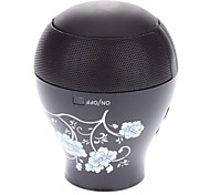 Chinaware Flower Vase Design Micro SD Speaker with Mini USB Port/3.5mm Plug(Black)