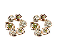 Fashion High Quality Alloy And Crystal With Platinum Plated Earrings