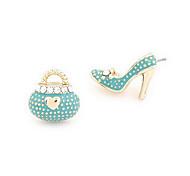 Corée chaussure de sac de style Stu Boucles d'oreilles