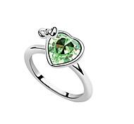 Ángel cristalino del corazón del anillo del Bowknot de Austria (colores surtidos)