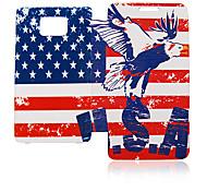 Bandera americana Caso de cuero de Eagle para Samsung I9100 Galaxy S2