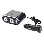 Universal Multifunctional In-Car Twin Sockets with Switch Cigarette Lighter Charger Adapter for Cars