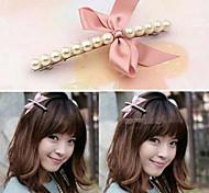 Korean Fashion Bow And Pearl Hair Clips