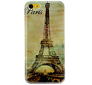 Torre Eiffel Padrão Hard Case Vintage para iPhone 5C