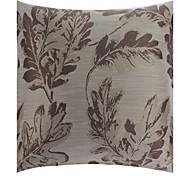 "18 ""Silver Leaf poliéster almohada cubierta decorativa tradicional Square"