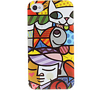 Cartoon Style Abstract Colorful Painting Pattern Hard Case for iPhone 4/4S