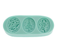 Christmas Chocolate Silicon Mold Fondant Cake Decoration Mold