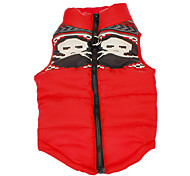 Dog Coat / Vest Red Dog Clothes Winter Skulls Keep Warm