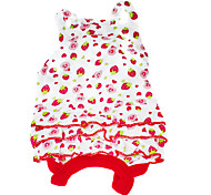 Dog Dress / Clothes/Clothing Red Summer Fruit