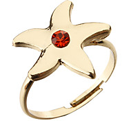 Star Starfish Adjustable Ring(Random Color)