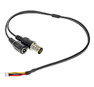 CCTV 3.6mm Lens and 30cm Video Pin Cable Set for Security Camera