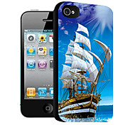 Sailing Pattern 3D Effect Case for iPhone4/4S