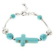 Vintage Style Bohême Croix Bracelet Turquoise