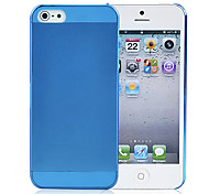 Black Thin Crystal Clear Snap on Hard Case Cover Skin for Apple iPhone 5