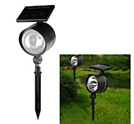 4-LED de luz branca LED Solar Powered LED recarregável Plastic Garden Spotlight (cis-58090)