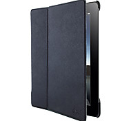 alto standrad patrón cubierta 2 plegada cáscara de la protección pu estuche de cuero cruzada oblicua para ipad3 / 4