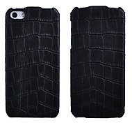 Crocodile Pattern Vertical Transverse Series Leather Case for iPhone 5S