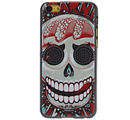 Exaggerated Cool Skull Pattern Hard Case for iPhone 5C