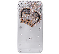 Crown Jewelry Covered Back Case for iPhone 5/5S(Assorted Color)