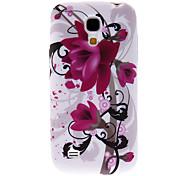Stilvolle Lila Blumen-Muster Hülle für das Samsung Galaxy S4 Mini I9190