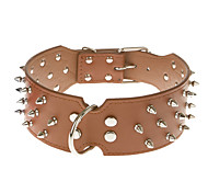 Dog Collar Studded / Rivet Red / Black / Brown / Yellow PU Leather