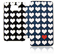 Loving Heart Leather Case voor Samsung Galaxy S2 I9100