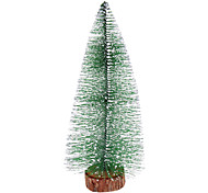 "20cm 8"" Frosted Pine Christmas Tree Desk Top Ornaments"