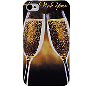 Wine Glass Back Case voor iPhone 4/4S