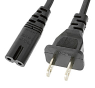 Figure 8 Shape AC Power Cord Cable Polarized (C-7/1-15P) Black(1M)