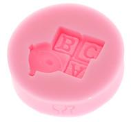 Mini ABC Model Baby Series 3D Liquid Silicone Double Sugar Mold Shape