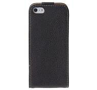 PU Case Black Point des grains Flip-ouverte de protection Full Body pour iPhone 5/5S