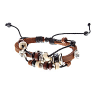 Unisex Multilayer Fabric Leather Bracelet