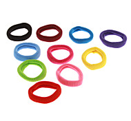 (10pcs)Fashion Multicolor Fabrics Hair Ties For Kids