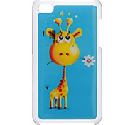 Funny Giraffe with A Flower Pattern Epoxy Hard Case for iPod Touch 4