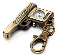 Unisex Vintage Pistol Style Quartz Analog Keychain Watch Cool Watches Unique Watches