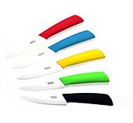 """4 """"фрукты растительное керамический нож (случайный цвет)"""