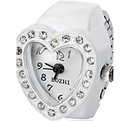 Women's Heart Shaped White Alloy Quartz Ring Watch Cool Watches Unique Watches