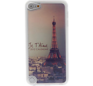 City Style Lighting Eiffel Tower Pattern Epoxy Hard Case for iPod Touch 5