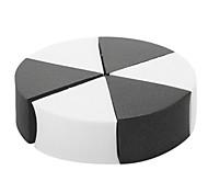 Malí P-007 del maquillaje Sponge (Negro y Blanco)