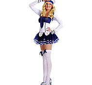 Cool Girl Blue and White Polyester Navy Uniform