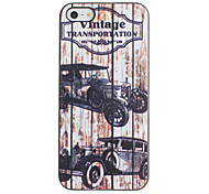 Vintage Vehicle Pattern PC Hard Case with Black Frame for iPhone 5/5S