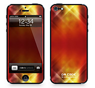 "Da Code ™ Skin for iPhone 4/4S: ""Red Dance Lights Pattern"" (Abstract Series)"